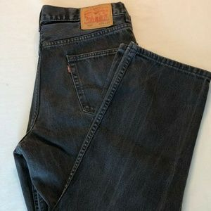 Levi's 550 Jeans 36 X 30  Black Relaxed Fit